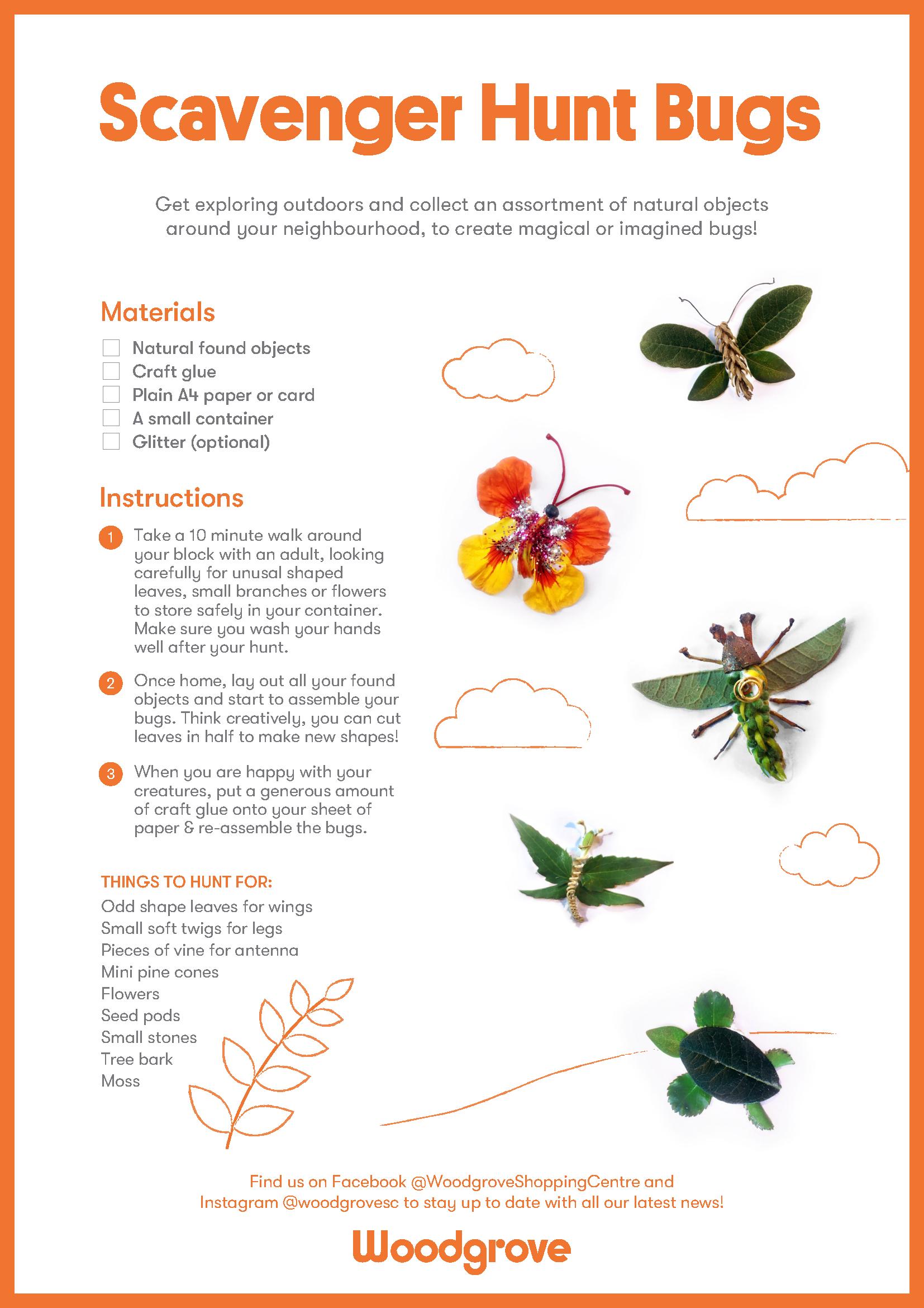 Bugs Scavenger Hunt Activity Sheet (2)